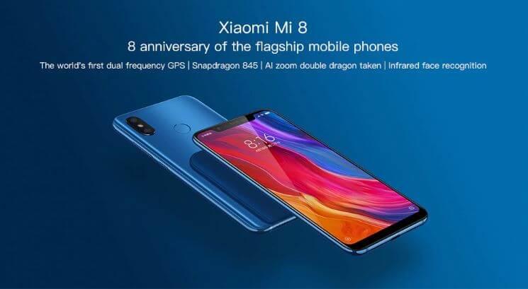 סמארטפון שיאומי Xiaomi Mi 8 6GB + 64GB גירסא סינית