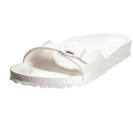 בירקנשטוק מדריד בירקו פלור לבן מעור סינטטי