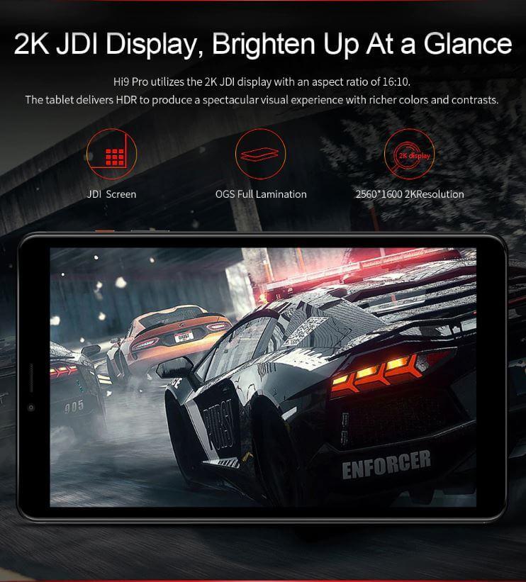 """טאבלט Chuwi Hi9 Pro מסך 8.4"""" דגם 3GB+32GB עם מקום לסים כפול"""