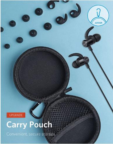 אוזניות בלוטוט' Anker SoundBuds Slim+ כולל מיקרופון מובנה, אנקר