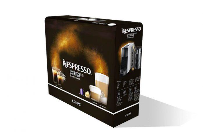 מכונת קפה Essenza Mini של נספרסו כולל מקציף Aeroccino