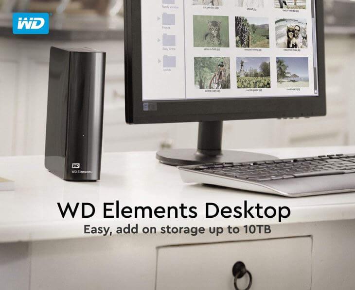 כונן חיצוני WD Elements בנפח 4TB