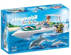 פליימביל 6981 סירת מירוץ צוללן ודולפינים