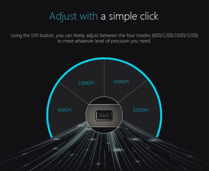 Rapoo MT750 עכבר לייזר אלחוטי למחשב