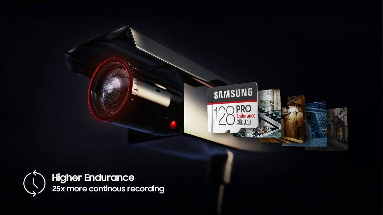 כרטיס זכרון Samsung Pro Endurance בנפח 128GB מומלץ מאוד למצלמות רכב
