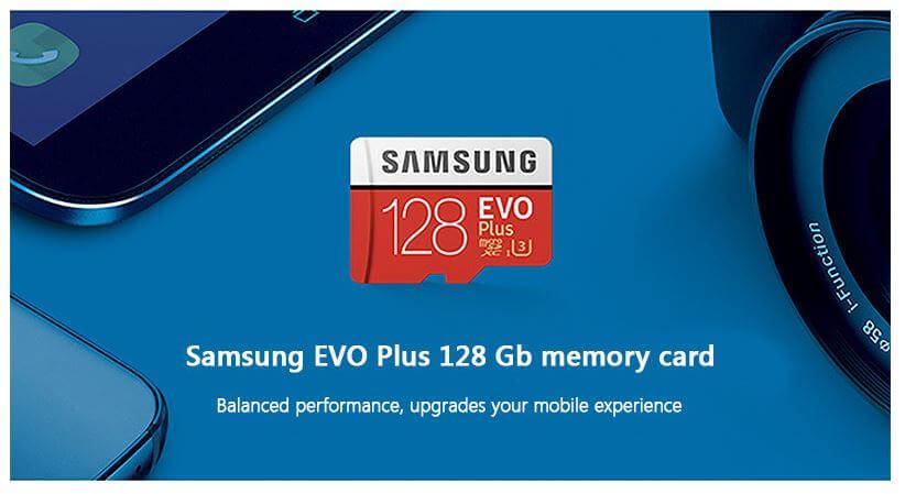 כרטיס זכרון Samsung EVO בנפח 128GB של סמסונג