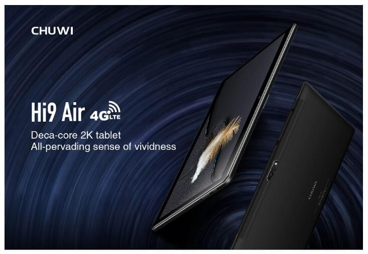 טאבלט 10.1 אינץ CHUWI Hi9 Air דגם 4GB RAM 64GB ROM וסים כפול