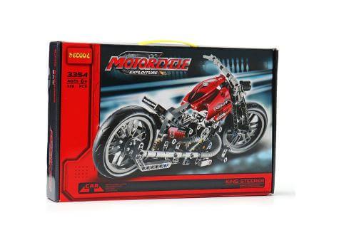 משחק בניה והרכבה Decool 3354 אופנוע מירוץ 374 חלקים