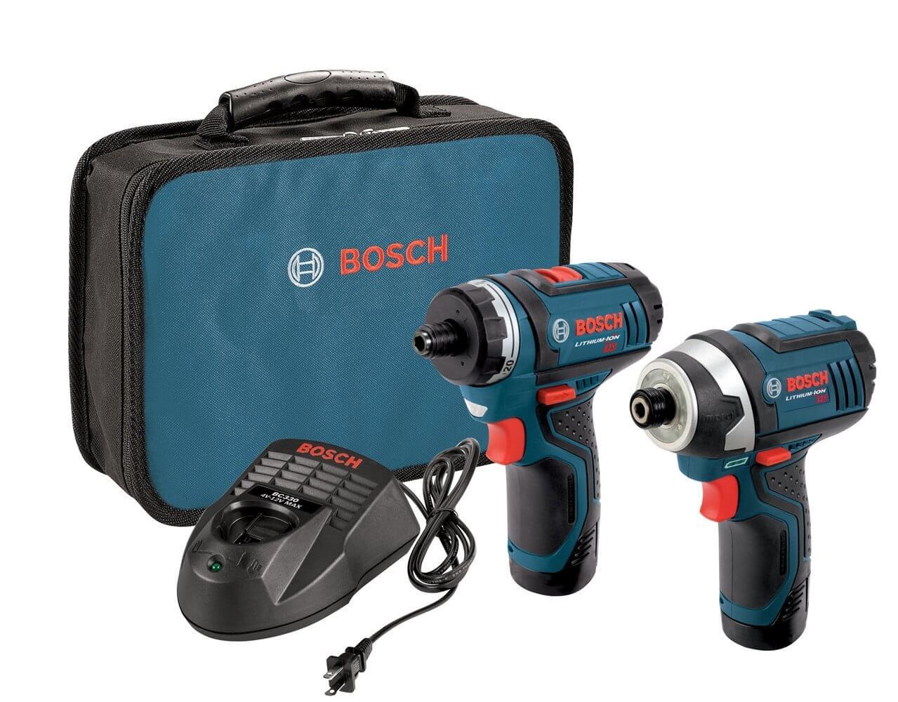 סט קומבו מברגות Bosch CLPK27 12V כולל 2 סוללות תיק ומטען