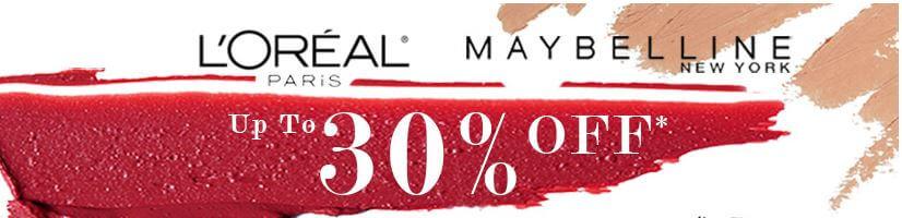 30% הנחה על מוצרי L'Oreal Paris ו- Maybelline באתר eChemist הבריטי המומלץ