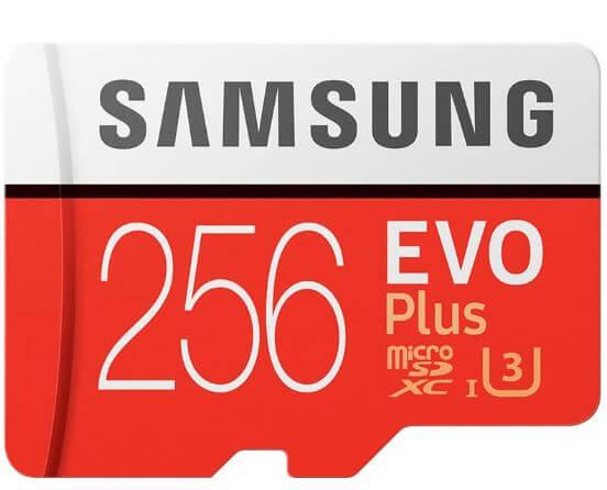 כרטיס זכרון Samsung EVO Plus בנפח 256GB במחיר מדהים
