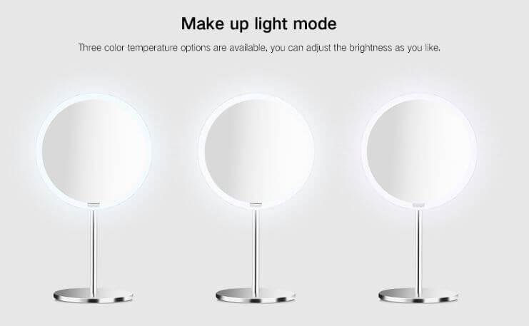 מראת איפור ניידת Xiaomi Yeelight עם תאורת לד