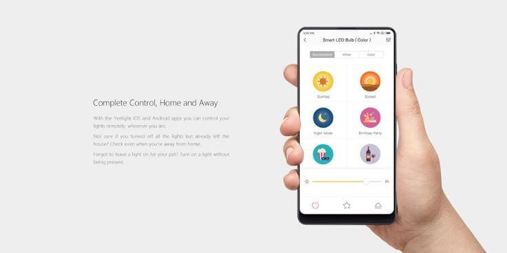 נורה חכמה צבעונית של Xiaomi Yeelight