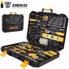 סט ארגז כלים ענק 168 חלקים DEKO במזוודה מהודרת