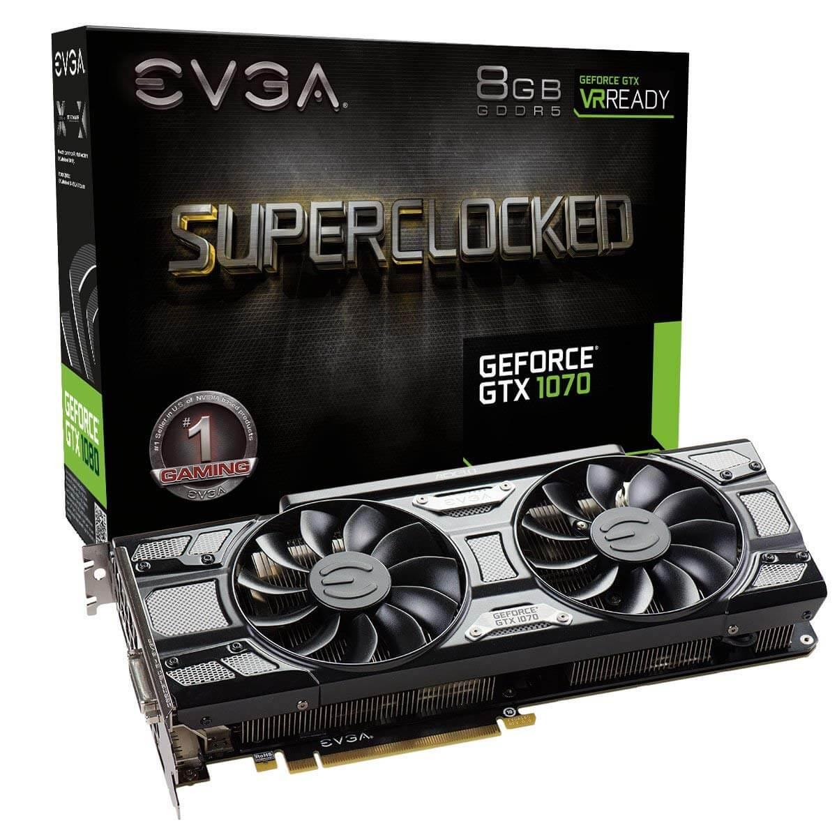 כרטיס מסך EVGA GeForce GTX 1070 8GB GDDR5