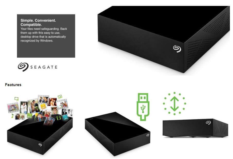 כונן אחסון חיצוני Seagate Desktop בנפח 8TB