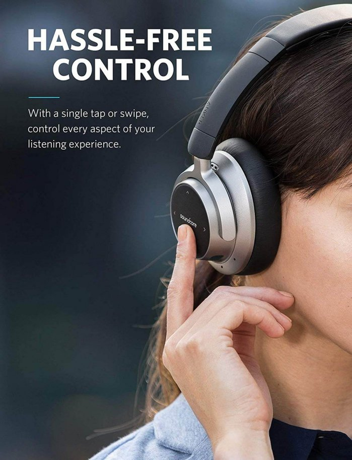 אוזניות Anker Soundcore Space ביטול רעשים וסוללה לעד 20 שעות