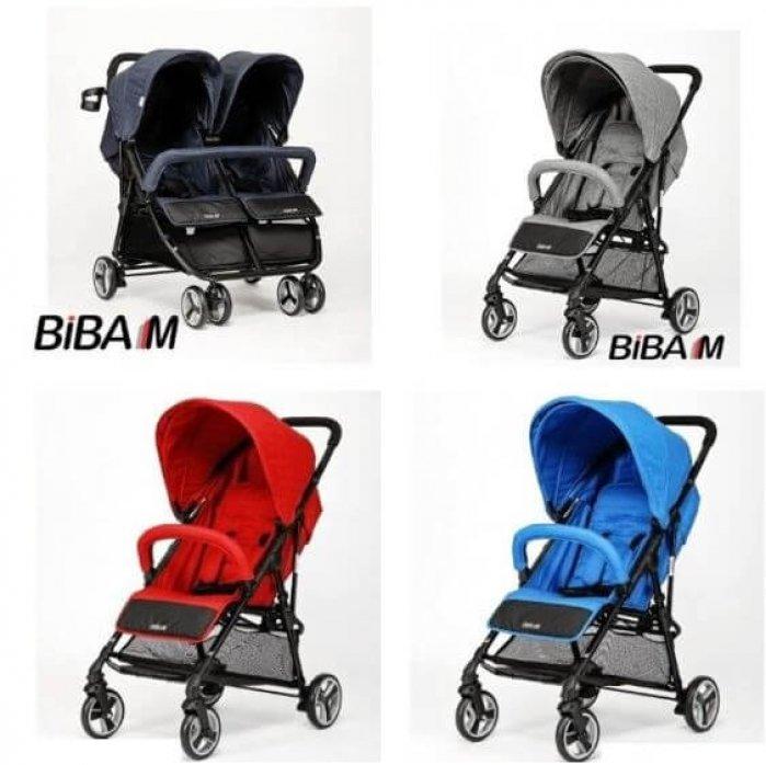 עגלות Biba M יחיד או תאומים במבחר צבעים במחירי חיסול!
