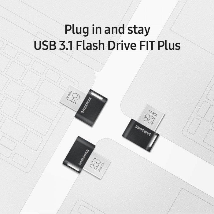 זכרון נייד Samsung MUF-128AB/AM FIT Plus בנפח 128GB סמסונג