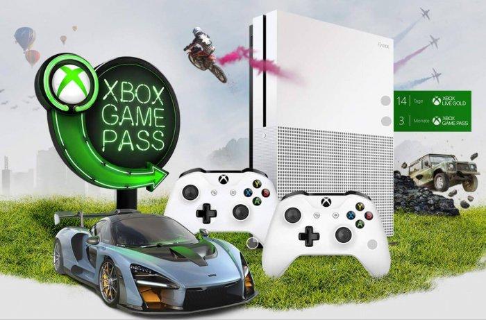 קונסולת אקסבוקס Xbox One S בנפח 1TB כולל 2 שלטים, כולל 3 חודשים מנוי Gamepass ו- 14 ימים מנוי גולד לייב