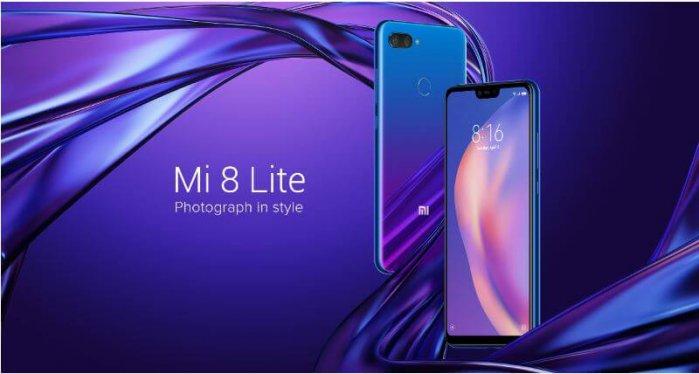 סמארטפון Mi 8 Lite דגם 6GB+128GB גירסא גלובלית
