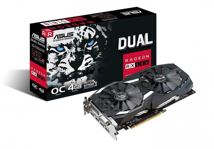 כרטיס מסך ASUS Radeon RX 580 דגם 4GB OC מאוורר כפול
