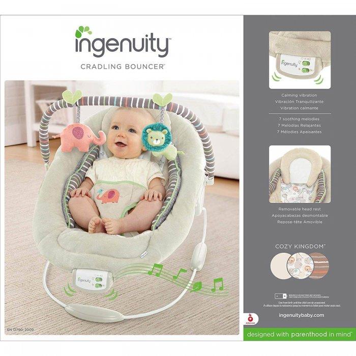 טרמפולינה לתינוק Ingenuity Cozy Kingdom אמזון בריטניה