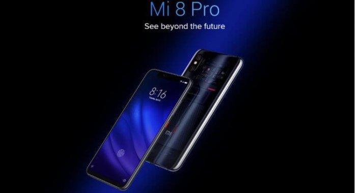 סמארטפון Xiaomi Mi8 Pro דגם 8GB + 128GB גירסא גלובלית