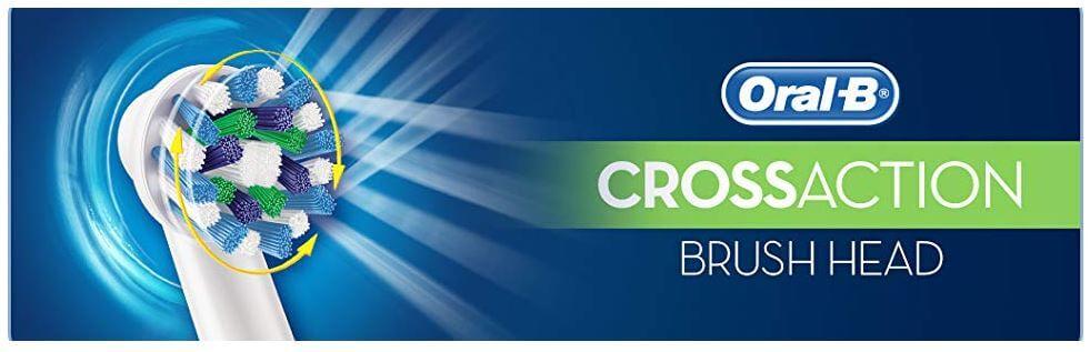 שישיית ראשים Oral-B CrossAction למברשת שיניים חשמלית