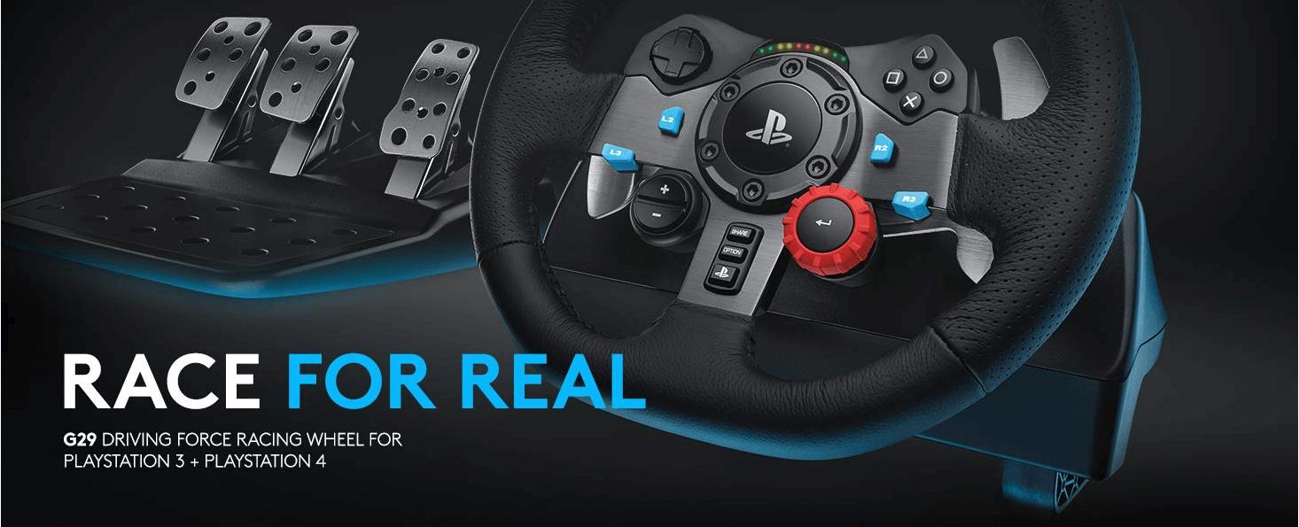 הגה מירוצים Logitech Driving Force G29 עבור PC ו PS3/PS4 כולל דוושות