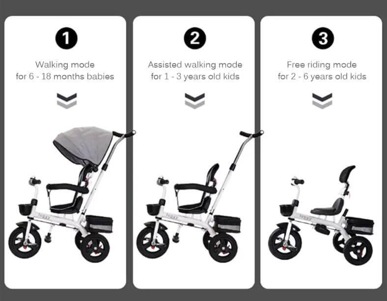 תלת אופן לתינוקות 3 צבעים לבחירה