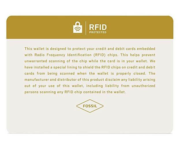 ארנק עור Fossil RFID Flip ID Bifold פוסיל לגבר