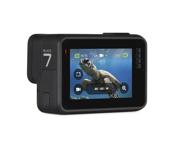 GoPro HERO7 Black מצלמת אקסטרים 4K/60fps עמידה במים עם מסך טא'ץ