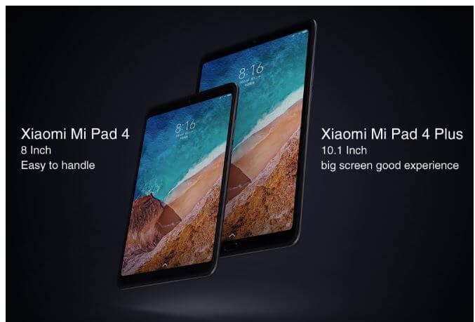 טאבלט 8 אינץ Xiaomi Mi Pad 4 שיאומי דגם 4GB RAM 64GB כולל גלישה סלולרית