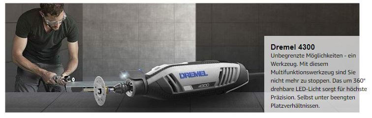 Dremel 4300-3/45 דרמל כולל 45 אביזרים ומזוודה