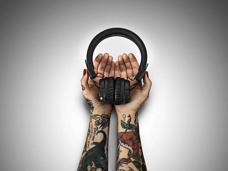 """אוזניות Marshall Major II Bluetooth אמזון ארה""""ב"""