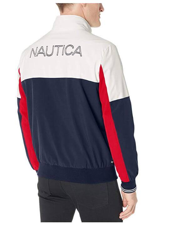 """ג'קט Nautica Lightweight Colorblock Iconic אמזון ארה""""ב"""