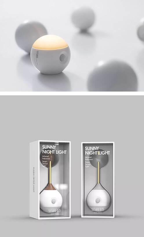 מנורת לילה חכמה Xiaomi Sothing עם חיישן תאורה ותנועה