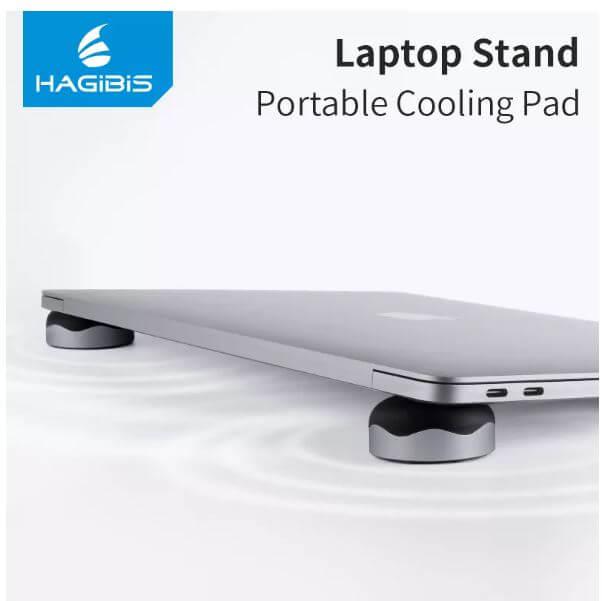 Xiaomi Hagibis זוג רגליות מגנט משמשות כסטנד ולקירור מחשב נייד