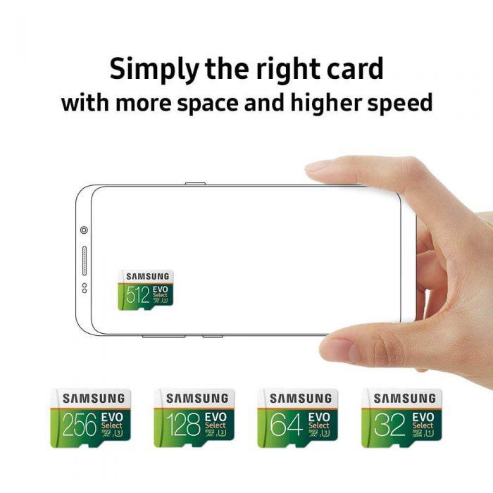 כרטיס זכרון Samsung EVO בנפח 512GB