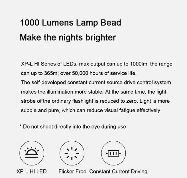 פנס שיאומי Xiaomi FZ101 BEEBEST