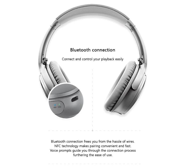 אוזניות BOSE QC35II עם סינון רעשים אקטיבי