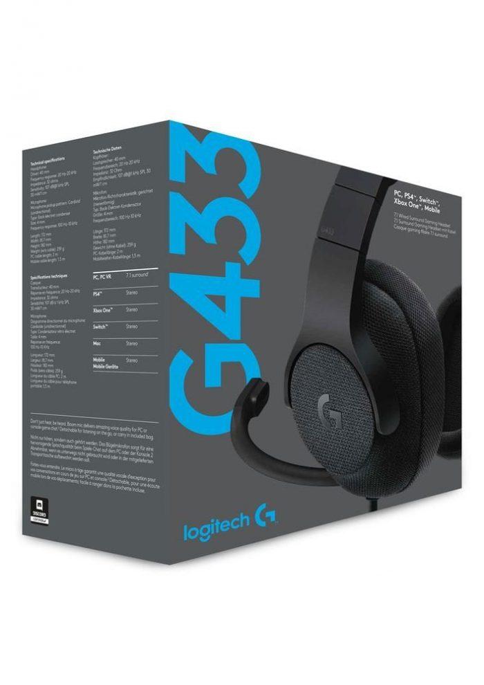 אוזניות חוטיות Logitech G433