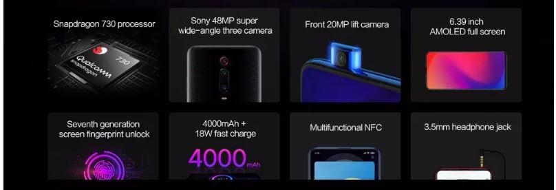 סמארטפון Xiaomi Mi9T דגם 6GB 64GB רום גלובלי