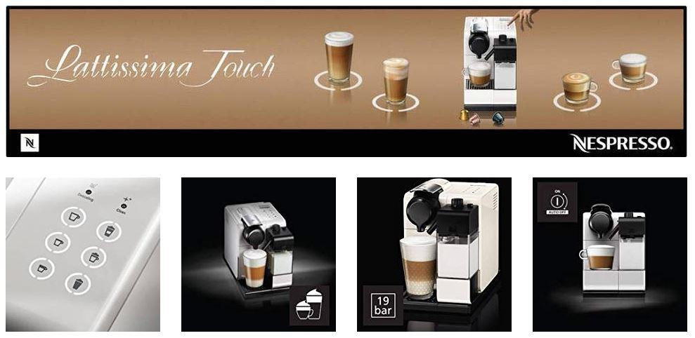 מכונת קפה Nespresso Lattissima Touch