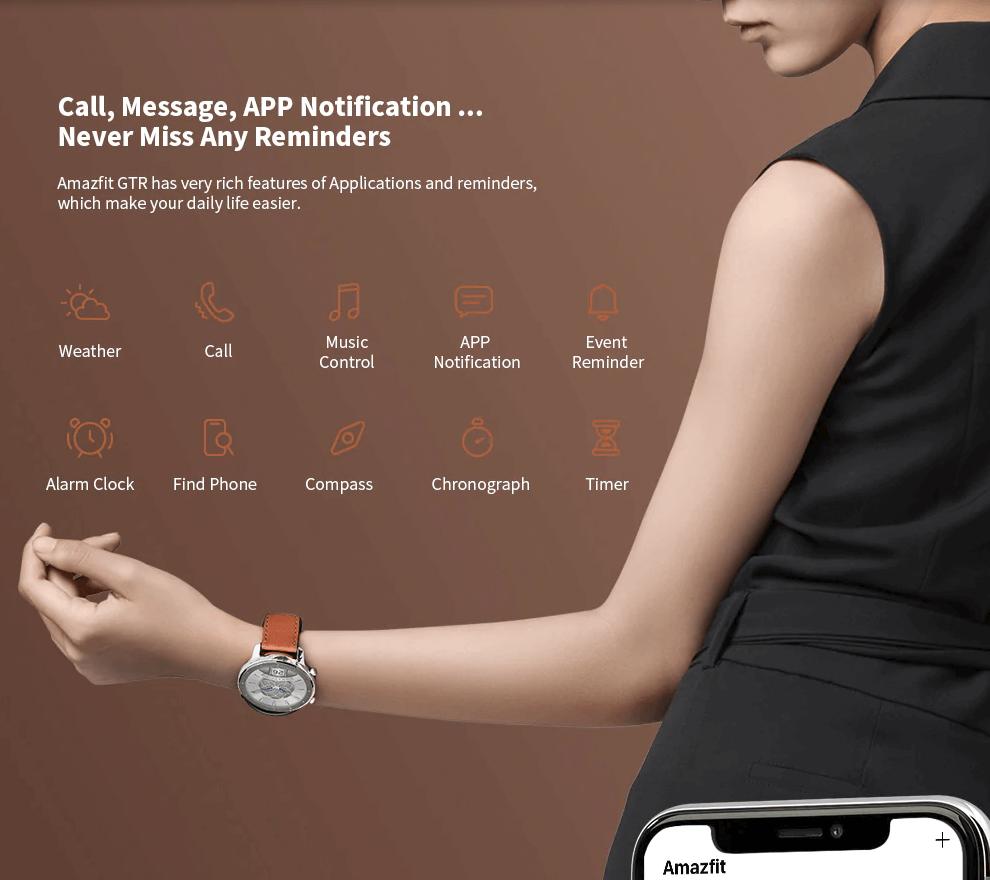 שעון חכם AMAZFIT GTR