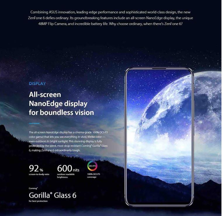 סמארטפון ASUS ZenFone 6