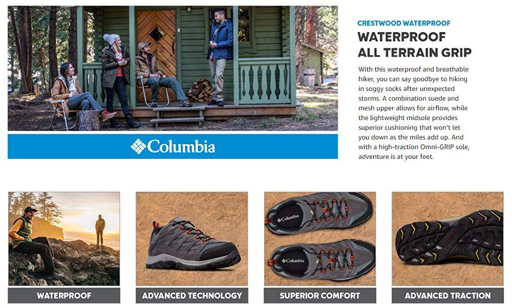 נעלי Columbia Crestwood