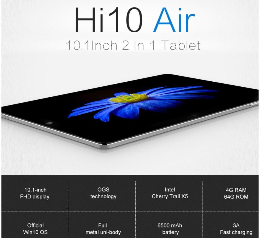 טאבלט 10.1 אינץ CHUWI Hi10 Air