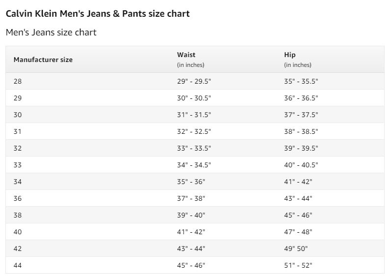 ג'ינס קלווין קליין לגברים